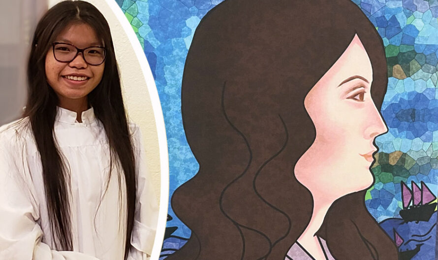 Khanh Nguyen; the artist behind our patron saint paintings